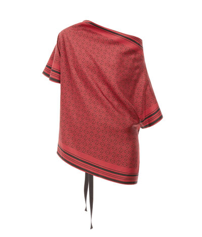 LOEWE Anagram Scarf Top Black/Red front