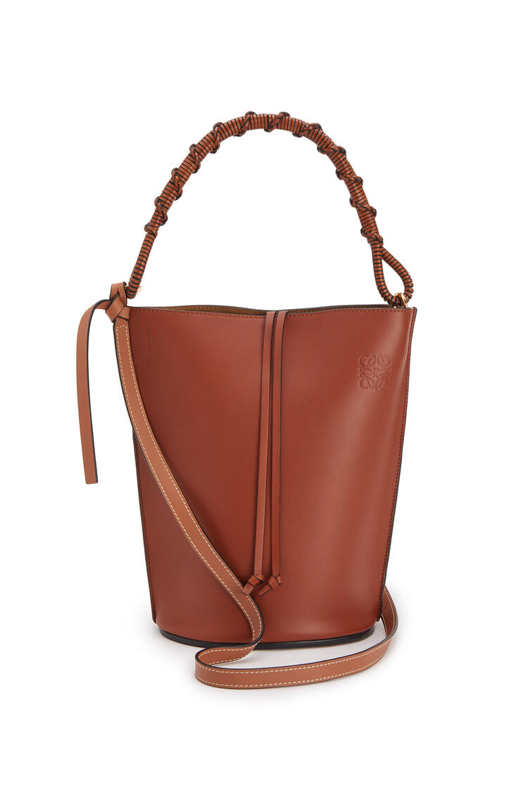 LOEWE Gate Bucket Handle bag in natural calfskin Rust Color pdp_rd