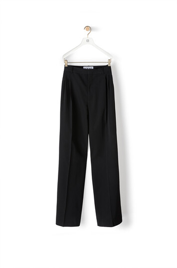 LOEWE Pleated Trousers ブラック front