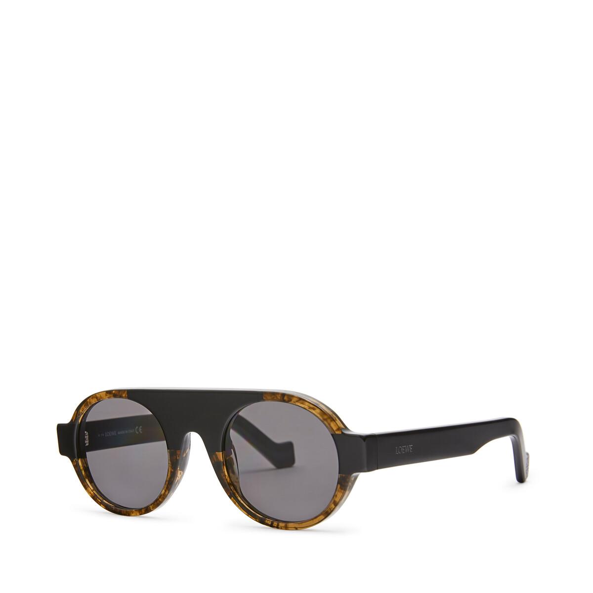 LOEWE Round Aviator Sunglasses Black front