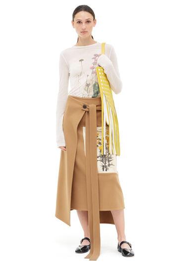 LOEWE Wrap Skirt Botanical Camel front