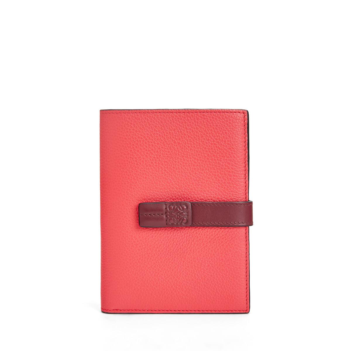 LOEWE Medium Vertical Wallet Poppy Pink front