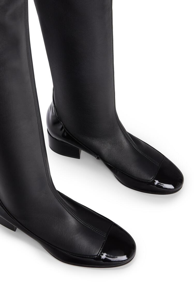 LOEWE Stretch thigh boot 40 in lambskin and calfskin Black/Black pdp_rd