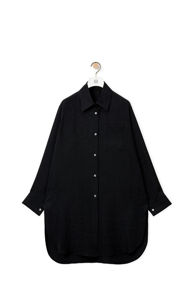 LOEWE Anagram jacquard  long shirt in silk Black pdp_rd