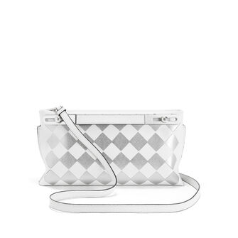 LOEWE Missy Checks Small Bag White/Silver front