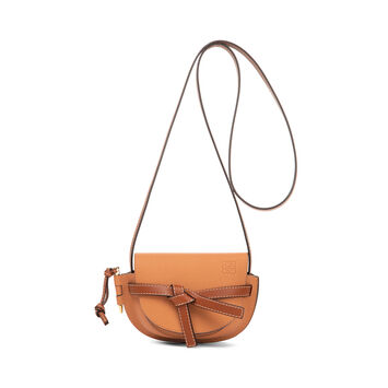 LOEWE Gate Mini Bag Light Caramel/Pecan Color  front