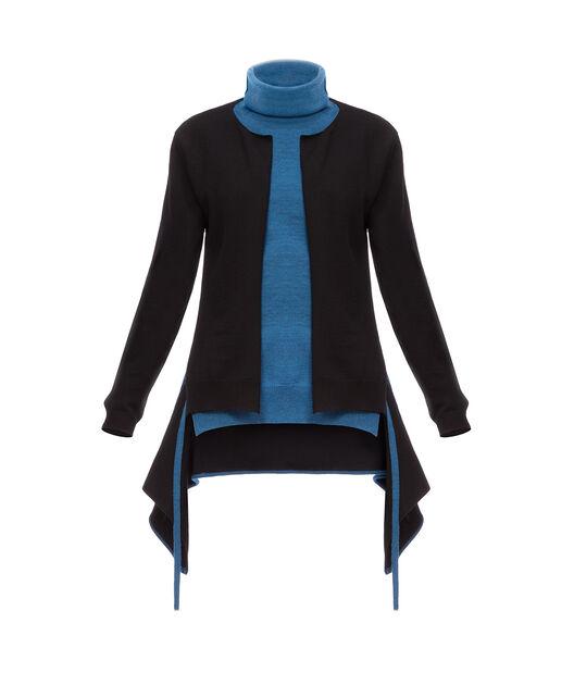 Turtleneck Sweater Back Panel