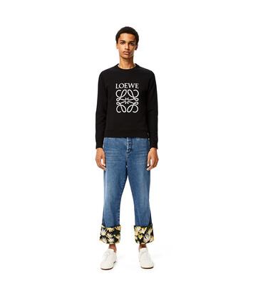 LOEWE Anagram Sweatshirt Negro front