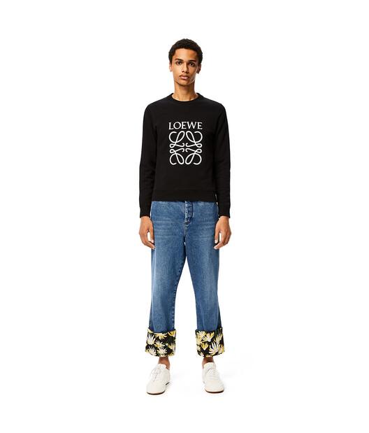 LOEWE Anagram Sweatshirt Black front