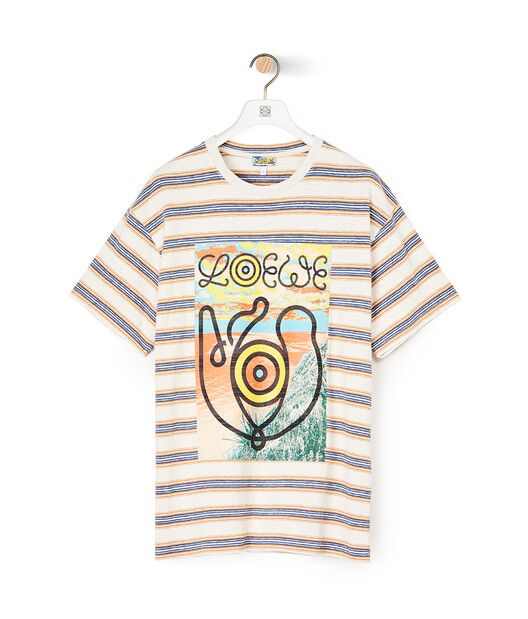 LOEWE Eln Stripe T-Shirt Blue/Orange front