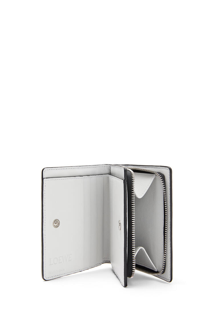 LOEWE Compact zip wallet in classic calfskin Black/Kaolin pdp_rd