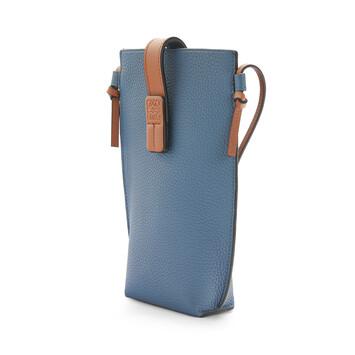 LOEWE Pocket Steel Blue/Tan front