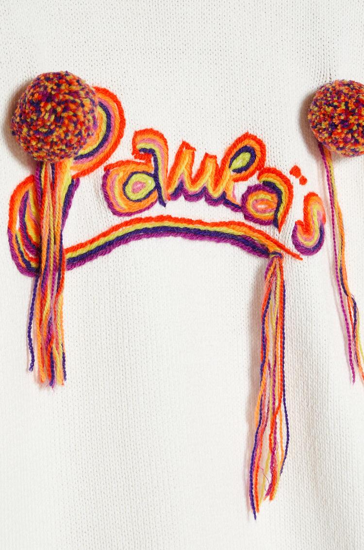 LOEWE Embroidered sweatshirt in cotton Ecru pdp_rd