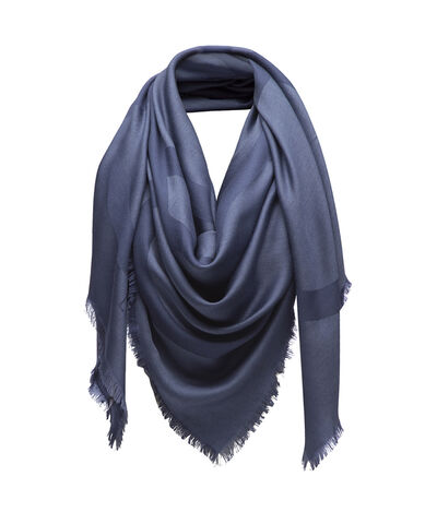 LOEWE 140X140 Scarf Giant Anagram Blue front