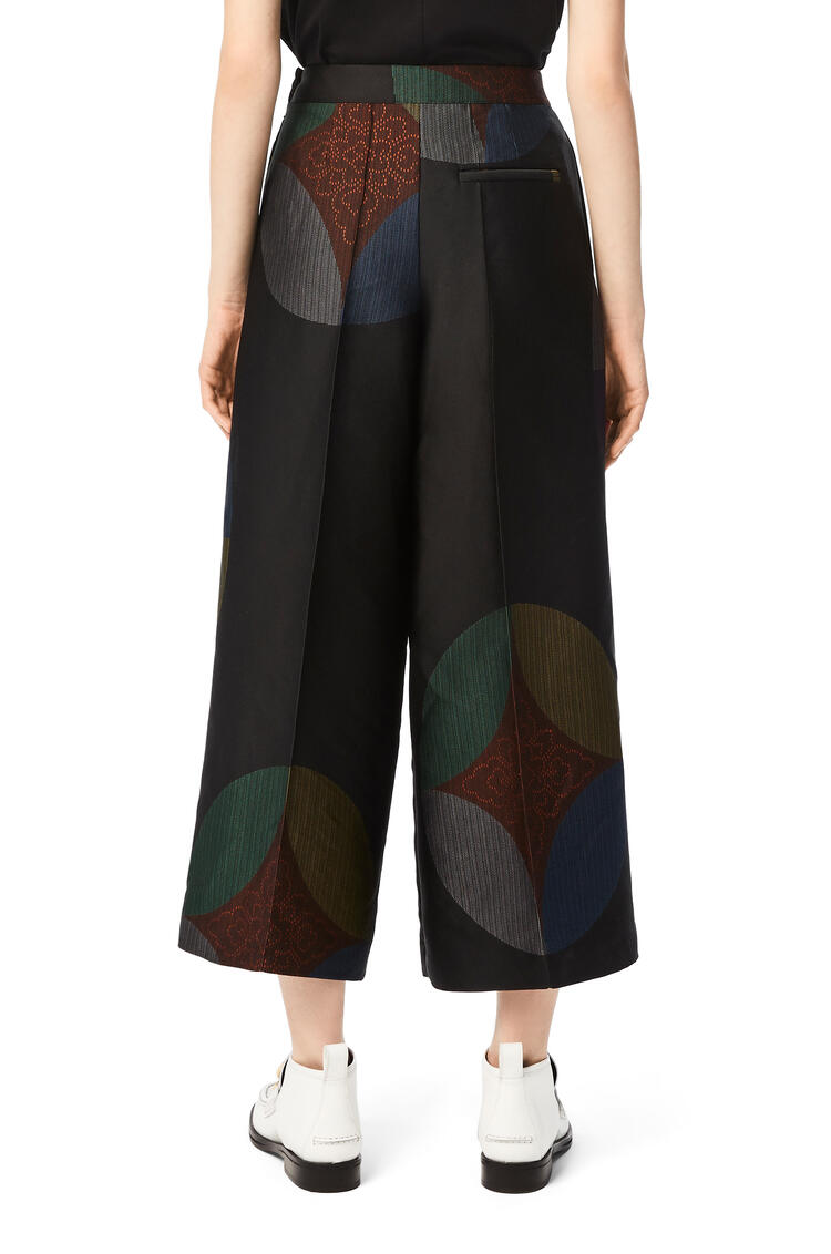 LOEWE Kaleidoscope jacquard cropped trousers Multicolor pdp_rd