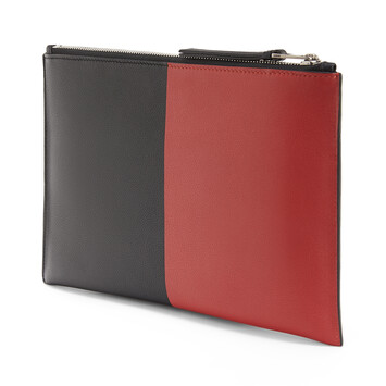LOEWE Flat Pouch Herald Black/Red front