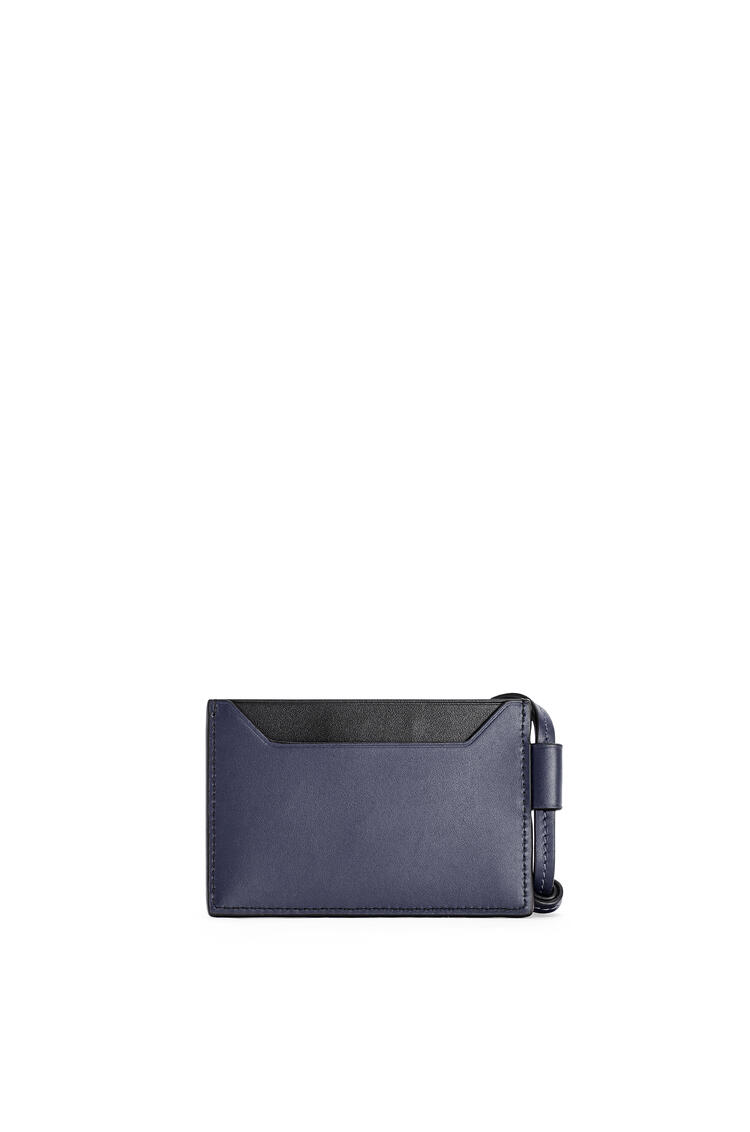 LOEWE Plain cardholder necklace in classic calfskin Midnight Blue pdp_rd