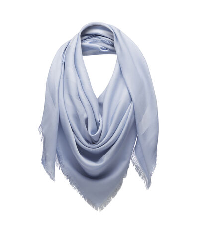 LOEWE 140X140 Scarf Giant Anagram Cielo front