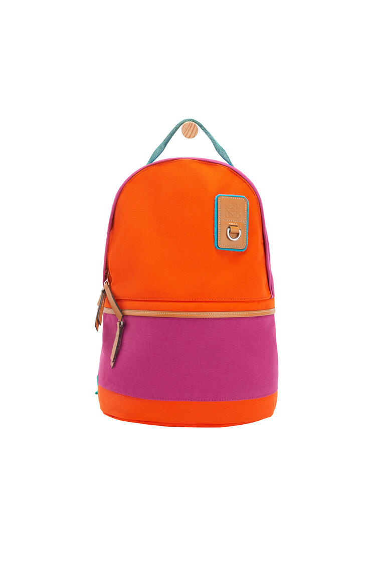 LOEWE Small backpack in canvas Violet/Orange pdp_rd