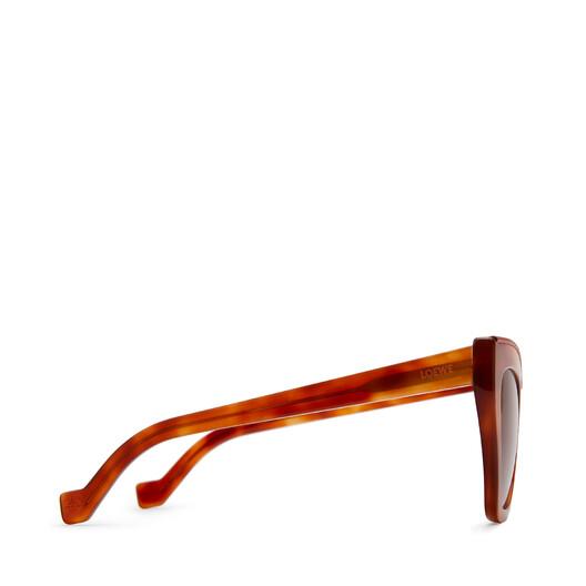 LOEWE Cateye Sunglasses Vintage Blonde/Red/S Brown front