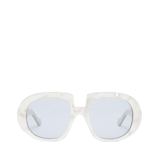 LOEWE Acetate Anagram Sunglasses Grey Pearl/Blue front