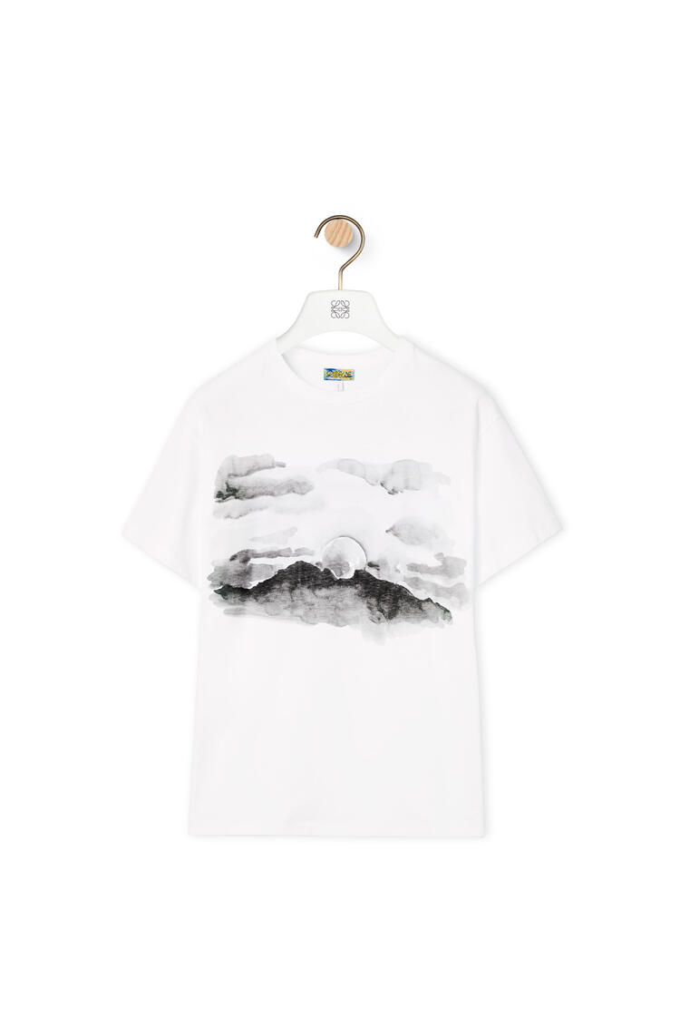 LOEWE Blue moon print T-shirt in cotton White pdp_rd
