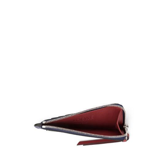 LOEWE Coin Cardholder Large Marine/Brick Red front
