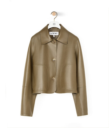 LOEWE Button Jacket Khaki Green front