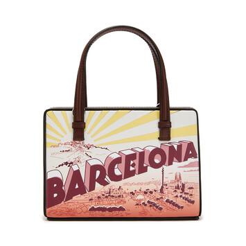 LOEWE Postal Barcelona Small Bag Wine front