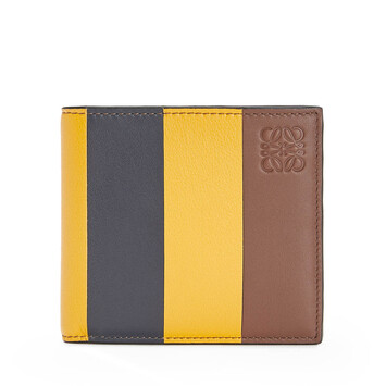 LOEWE Stripes Bifold Wallet Yellow Mango/Marine front