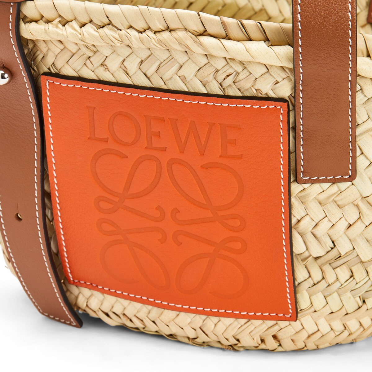LOEWE Basket Small Natural/Orange front
