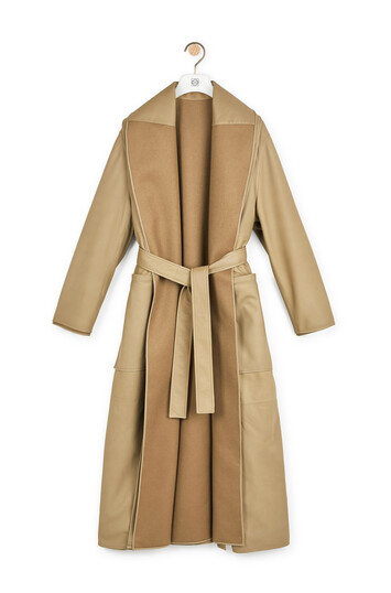 LOEWE Long Robe Coat 驼色 front