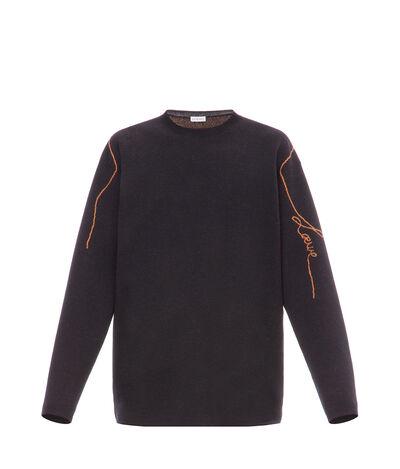 LOEWE ロエベ ジャカード セーター  ブラック front