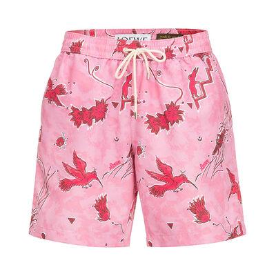 LOEWE Swimshort Paula Birds Pink/Red front