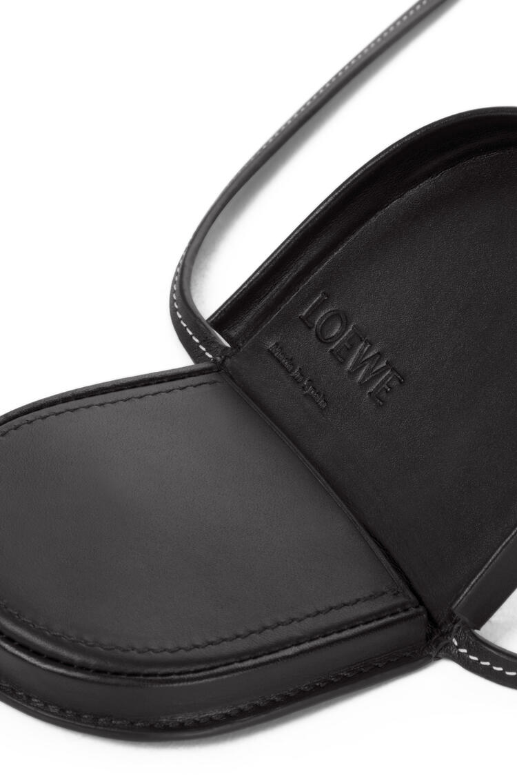 LOEWE Mini Heel pouch in soft calfskin Black pdp_rd