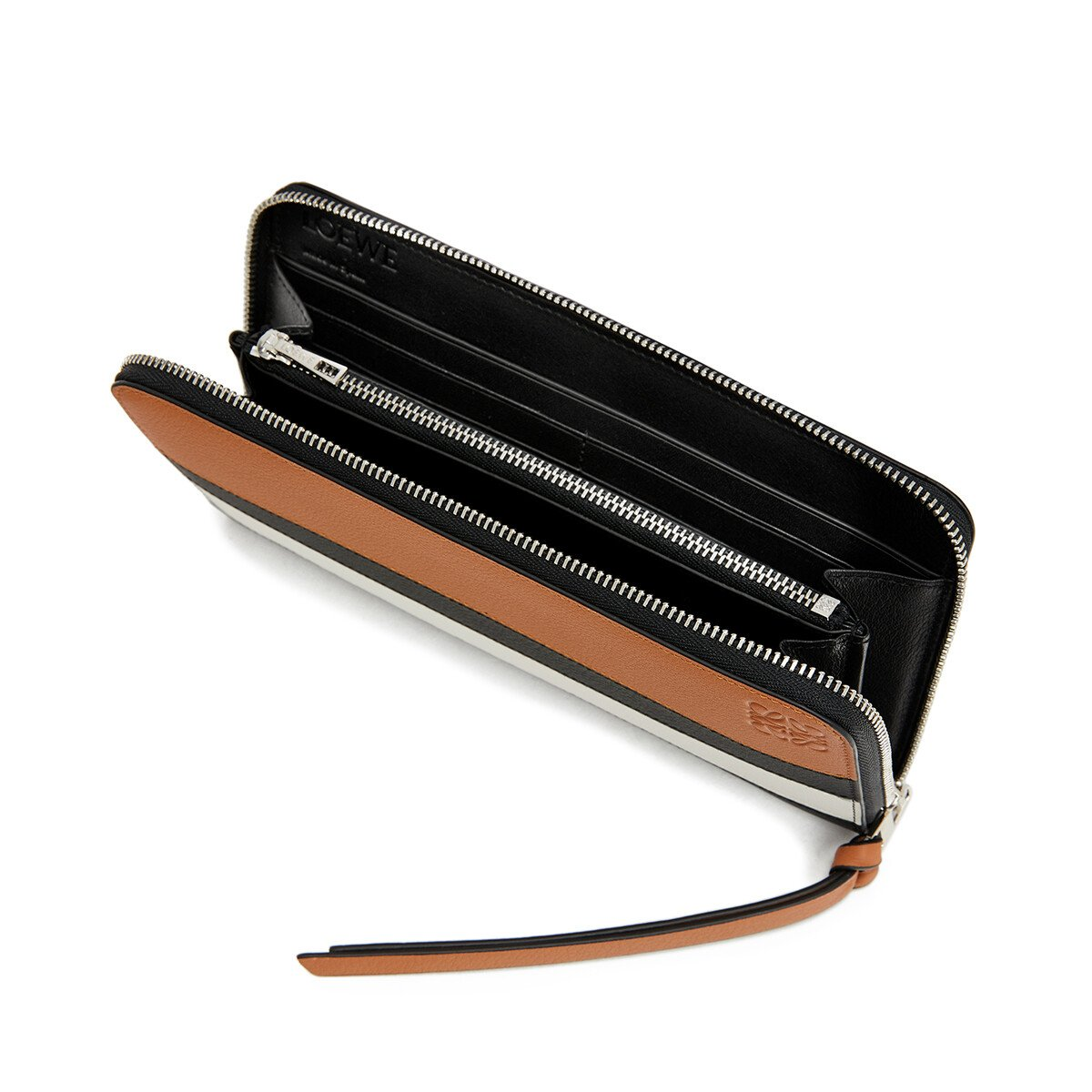 LOEWE Zip Around Wallet Marine Black/White front