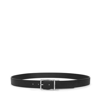 LOEWE Formal Belt 3.2Cm Adj/Rev 黑色/金屬灰 front