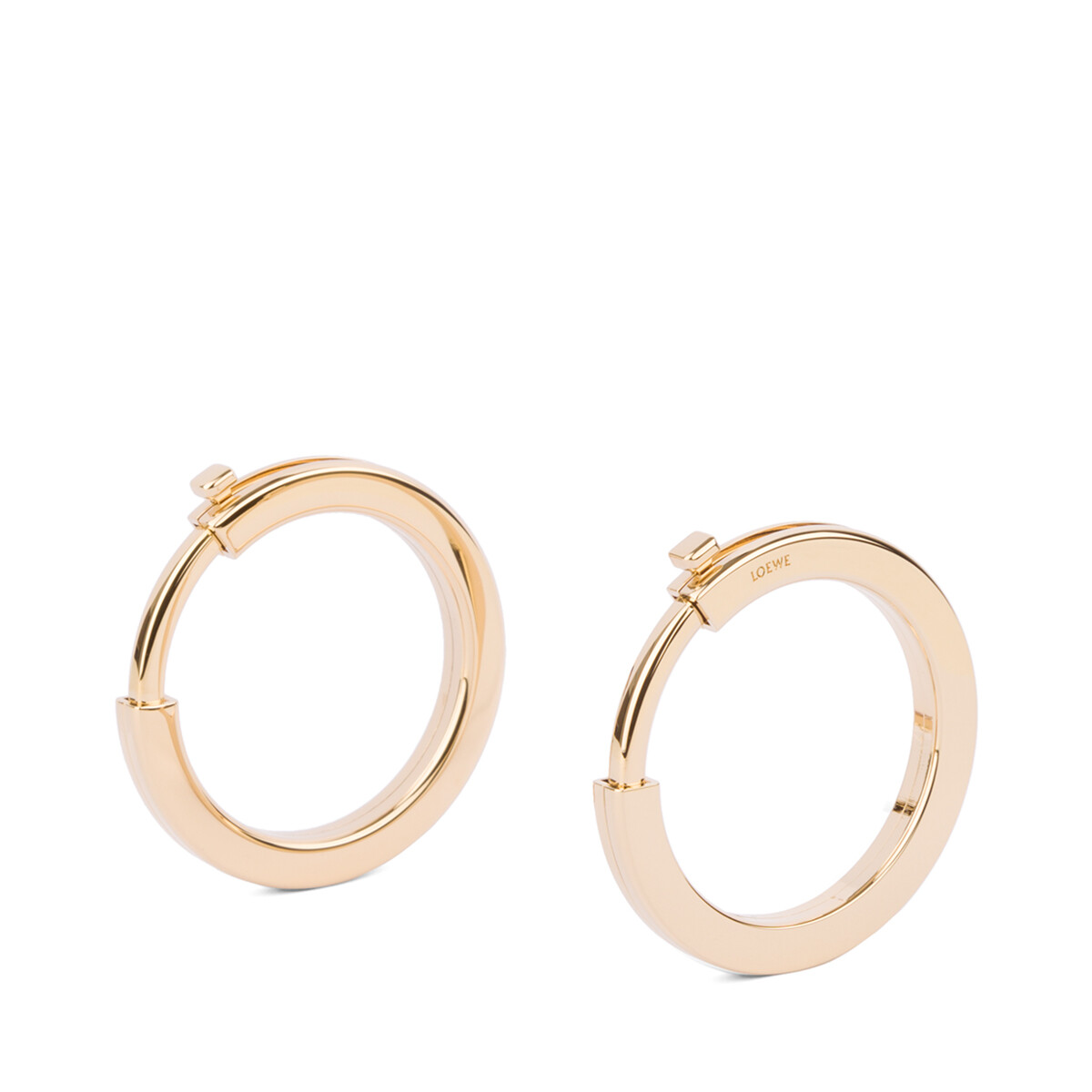 LOEWE Metallic Rings For Strap Gold front