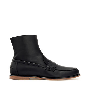LOEWE Loafer Boot 黑色 front