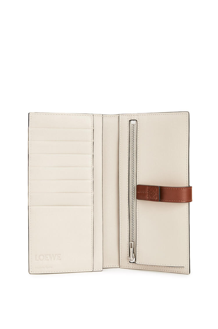 LOEWE Large vertical wallet in soft grained calfskin Narcisus Yellow/Pecan pdp_rd