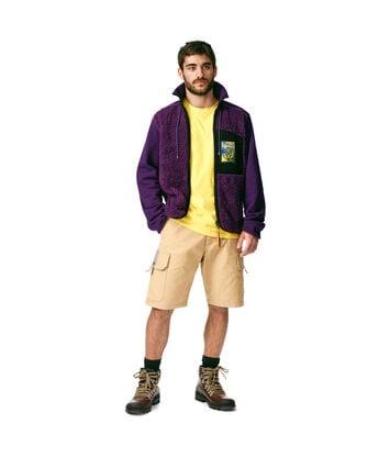 LOEWE Fleece Jacket Turtle Neck Morado front