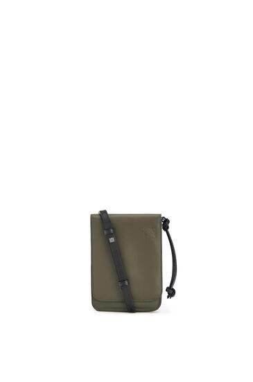 LOEWE Gusset Flat Crossbody Bag In Smooth Calfskin Khaki Green pdp_rd