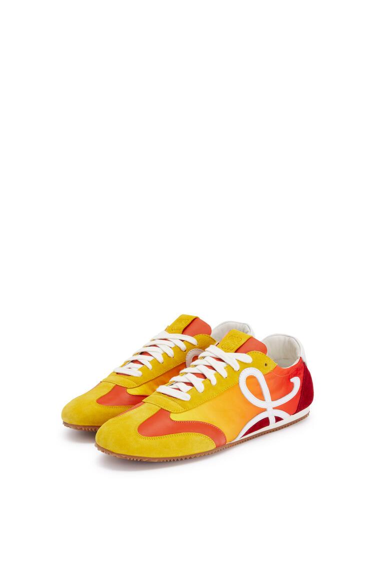 LOEWE Ballet runner in split calfskin and polyester Yellow/Multicolour pdp_rd
