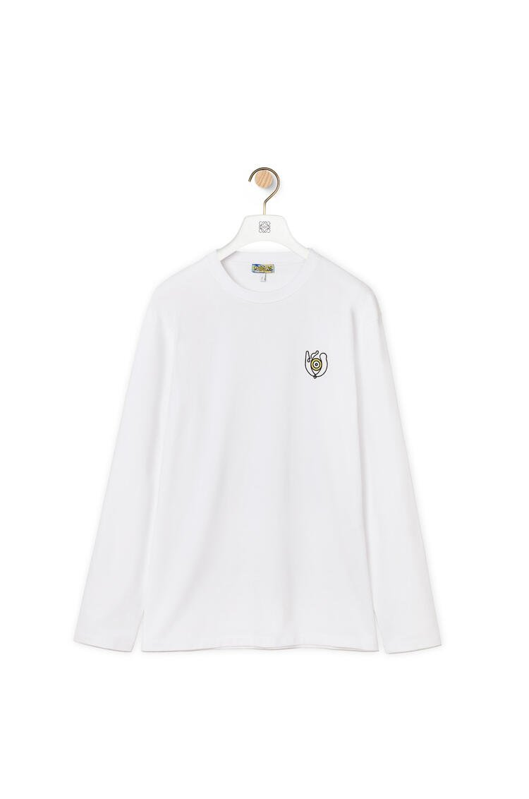 LOEWE Long sleeve print T-shirt in cotton White pdp_rd