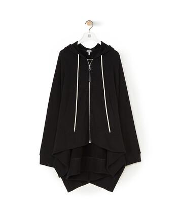 LOEWE Oversize Zip Hoodie 黑色 front