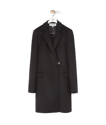 LOEWE Wrap Coat Negro front