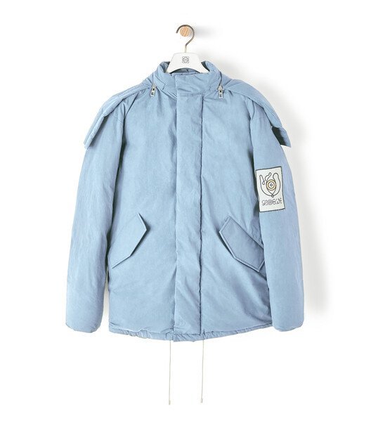 LOEWE Eln Puff Parka Baby Blue front