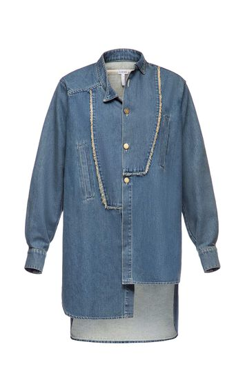 Long Asymmetric Shirt Denim