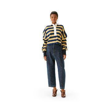 LOEWE Stripe Polo Amarillo/Marino front