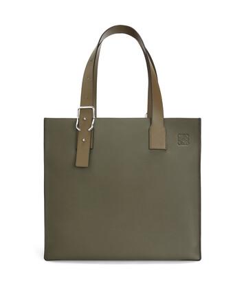 LOEWE Buckle Tote Bag カーキグリーン front